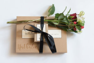 """Packaging mariage de luxe en kraft"""